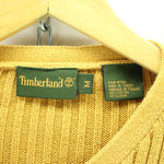 Timberland Men's Sweater Size M in Beige Oversized Striped V Neck Cotton, Jumper Sweater, Timberland, - Top-Garms