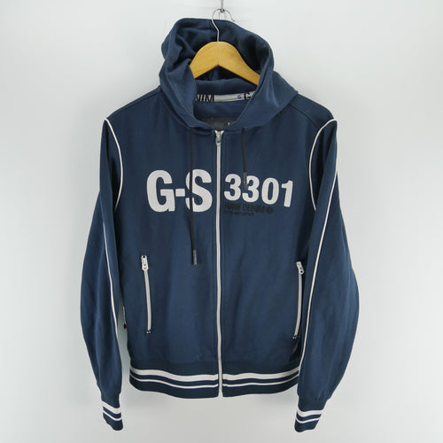 G-Star Men's Hoodie in Navy Blue Size S Long Sleeve Hooded Sweatshirt
