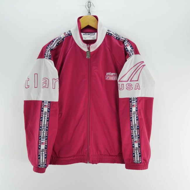 Vintage atlanta game Track Jacket n Red Cherry Size S Long Sleeve, Tracksuit, Atlanta, - Top-Garms