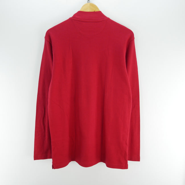 Vintage Chaps Sweater Size M in Red Long Sleeve Roll Neck, Jumper Sweater, CHAPS, - Top-Garms