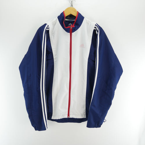 adidas Men's Track Jacket in Blue Size L