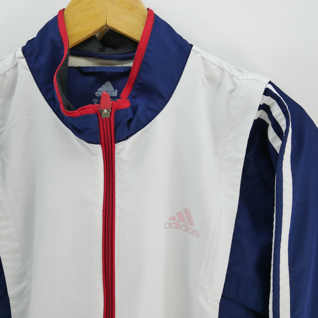 adidas Men's Track Jacket in Blue Size L Long Sleeve Full Zip Track Top, Tracksuit, adidas, - Top-Garms