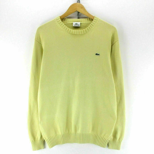 Lacoste Men's Jumper in Yellow Size L 4