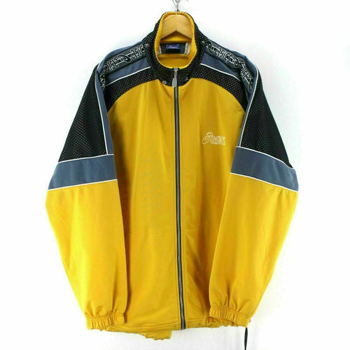 ASICS Men's Track Jacket Yellow Size XL
