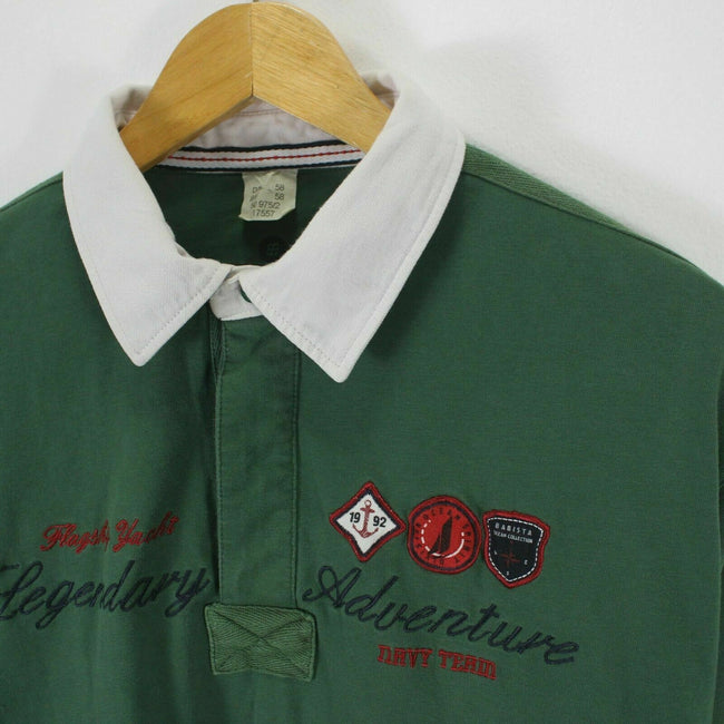 VINTAGE Men's Rugby Polo Shirt Size XL