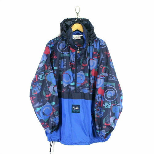 Vintage Exile Men's Windbreaker Size XL Retro Design
