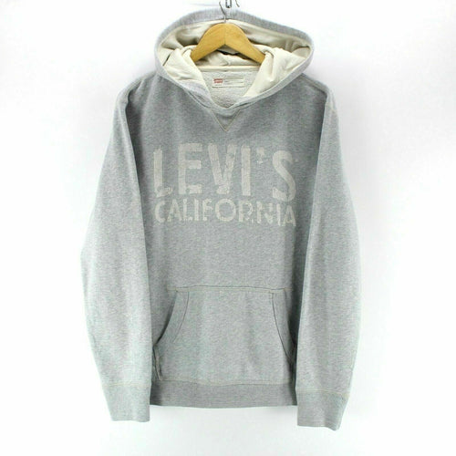 Vintage Levi's Men's Hoodie Size M Spell out