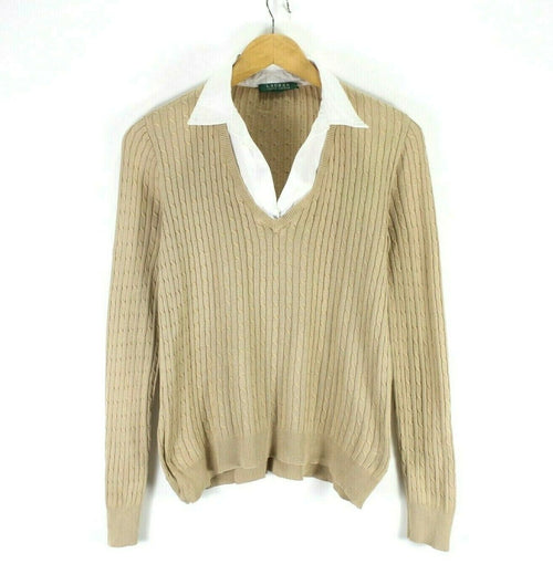 Ralph Lauren Women's Cable Knit Sweater Size L - XL