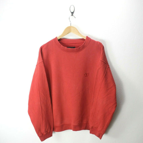 Vintage valentino Men's Sweater in Red Size XL Crew Neck Front Logo EF7220