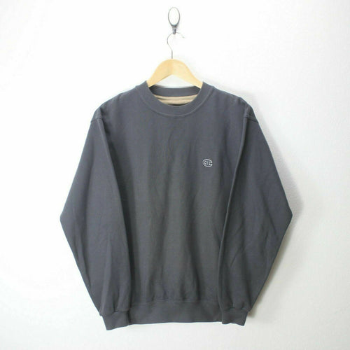 Vintage Champion Men's Sweater in Grey Anthracite Size S Round Neck EF6740