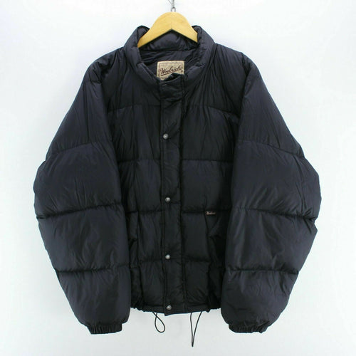 Vintage Woolrich Goose Down Jacket in Black Size 2XL Very Warm Puffer AB708