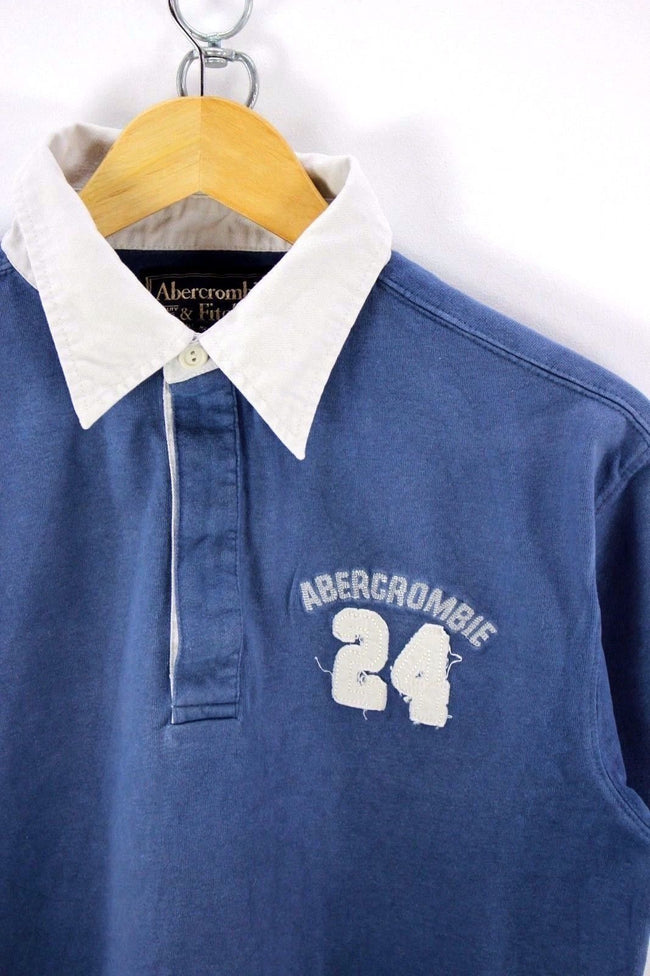 Abercrombie & Fitch Mens  Polo Shirt, Size M , Blue, Short Sleeve, Cotton, Polo Shirt, Abercrombie & Fitch, - Top-Garms