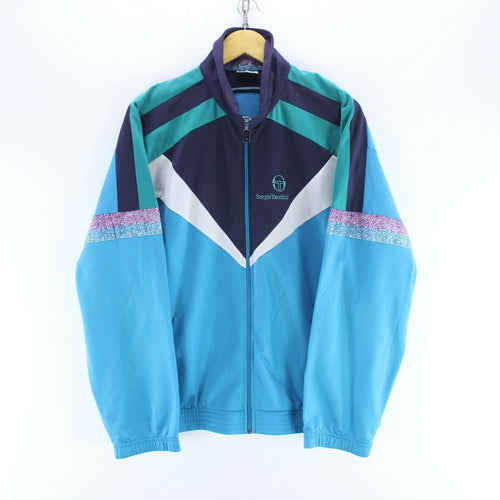 Vintage Sergio Tacchini Track Jacket in Blue Size L Long Sleeve Full Zip