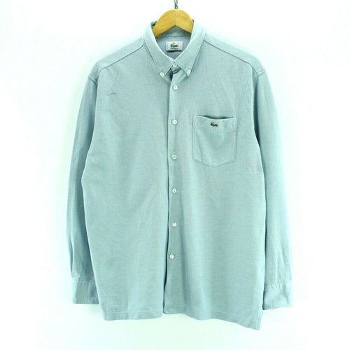 Lacoste Men's Shirt Size M in Sky Blue Long Sleeves 100% Cotton