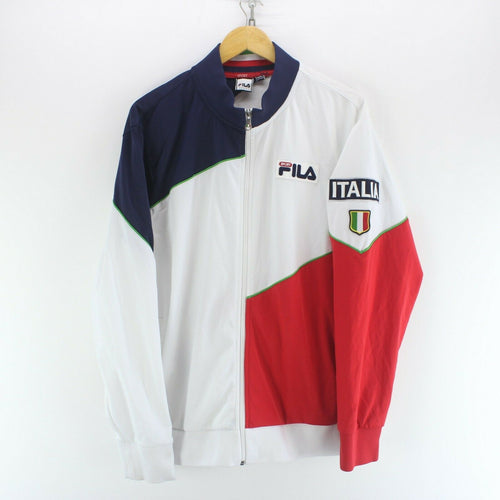 FILA Italia Men's Track Jacket White Size XL