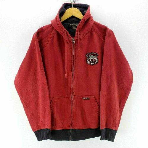 Marlboro Classics Men's Hooded Sweatshirt Red Size XL