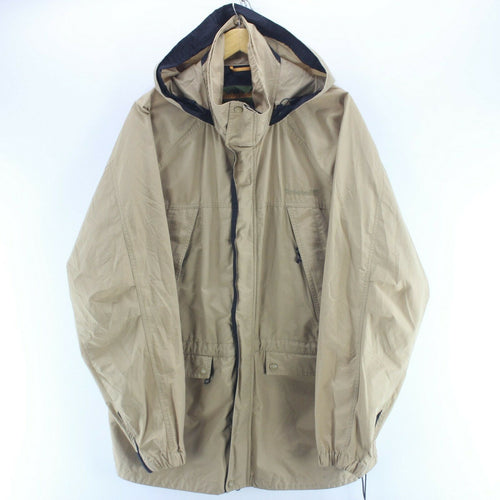 *Timberland Men's Work Jacket Size XL Beige Hooded Trench Coat