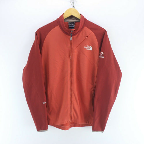 The North Face Women's Soft Shell Jacket Size L in Red Long Sleeve Zipped
