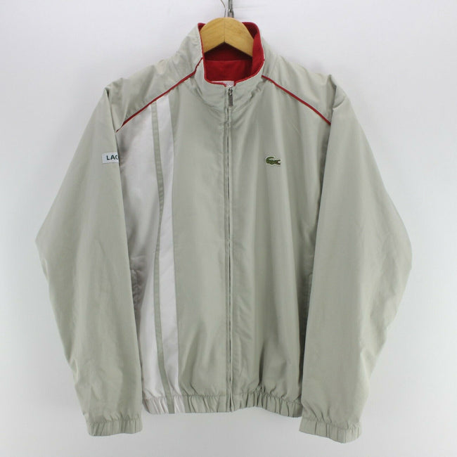 Vintage Lacoste Boy's/Men's Shell Jacket Grey Size S Long Sleeve Bomber, Tracksuit, Lacoste, - Top-Garms
