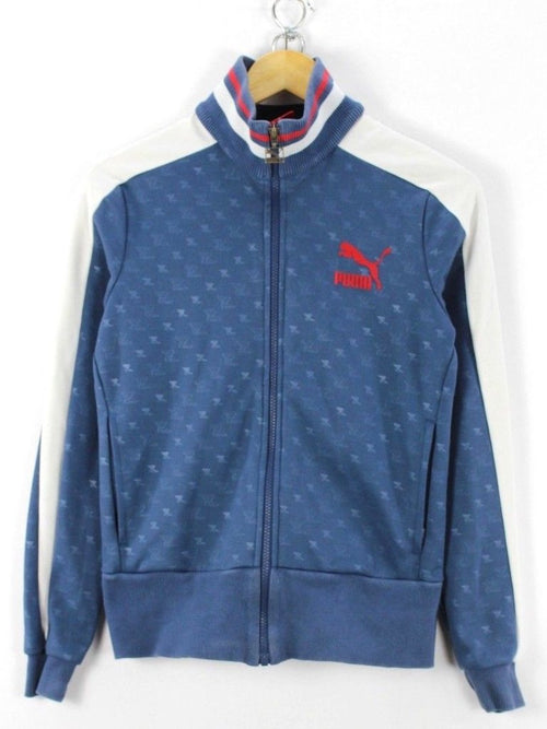 Puma Womens Vintage Retro Tracksuit TOP, Size M, Full Zip Running Jacket