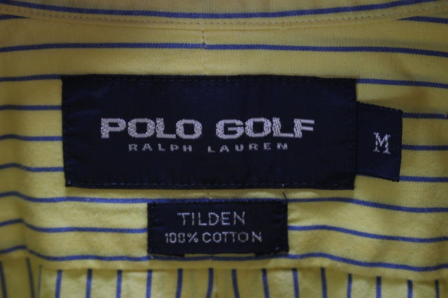 Ralph Lauren Mens  Casual Shirt Size M Medium Striped Short Sleeve Yellow, Shirt, Ralph Lauren, - Top-Garms