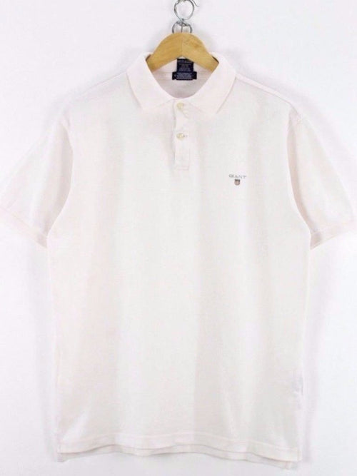 GANT Womens Polo Shirt, Size 3XL, XXXL, White, Short Sleeve, Cotton, TOP