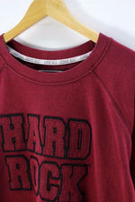 Hard Rock Mens Sweater, Size L, Crew Neck, Red, Cotton, Long Sleeve, Jumper Sweater, Hard Rock, - Top-Garms