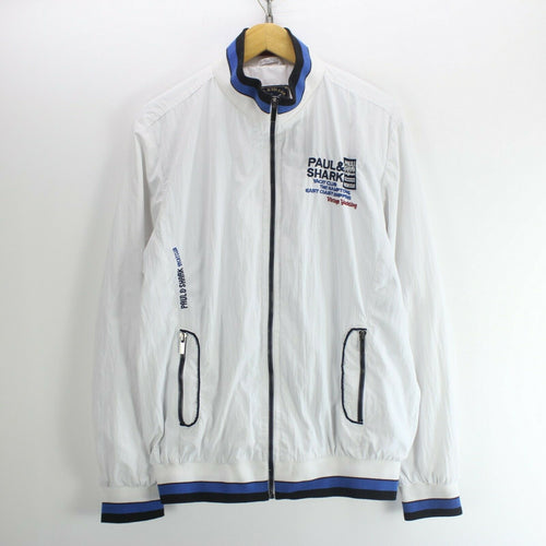Vintage Paul & Shark Men's Jacket White Size XL Yachting Bomber Jacket