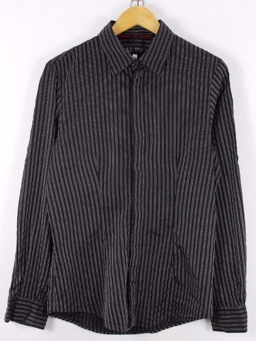 Armani AUTHENTIC Mens Shirt Size S, Casual Striped Party Shirt Long Sleeve