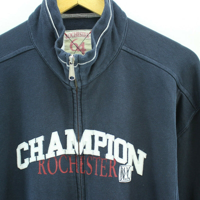 Champion Men's Sweatshirt in Navy Blue Size 3XL Long Sleeve Spellout, Sweatshirt, Champion, - Top-Garms