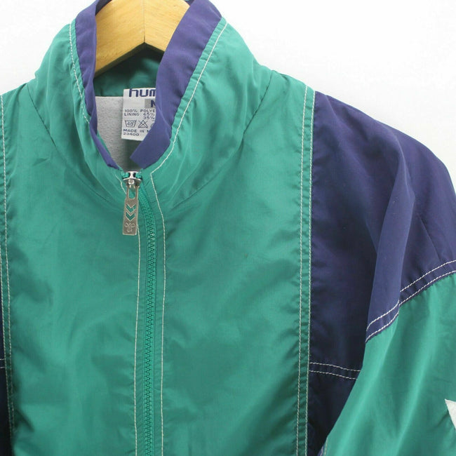 90's Vintage Hummel Track Jacket in Green Size M Long Sleeve Spellout, Tracksuit, hummel, - Top-Garms
