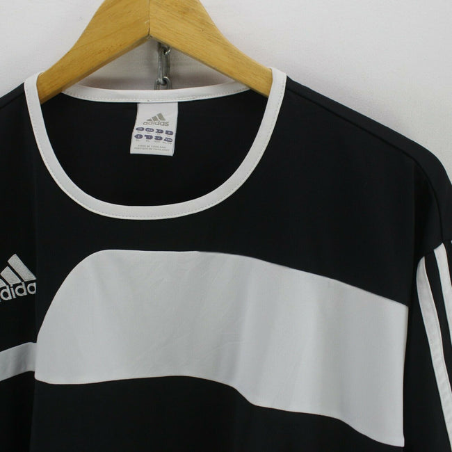Vintage adidas Men's T-Shirt in Black Size XL Short Sleeve Polyester Tee, T-shirt, adidas, - Top-Garms