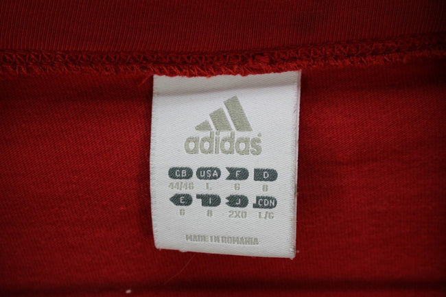 adidas Vintage Mens urban Tracksuit TOP, Size L, Red, Full Zip Running, Tracksuit, adidas, - Top-Garms