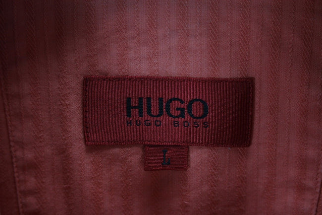 HUGO BOSS Mens Shirt, Size L Large, Pink, Short Sleeve, Casual TOP, Shirt, HUGO BOSS, - Top-Garms