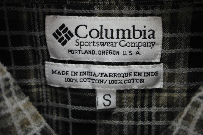 Columbia Mens Shirt, Size S Small, Casual Check TOP, Short Sleeve, Cotton - Top-Garms
