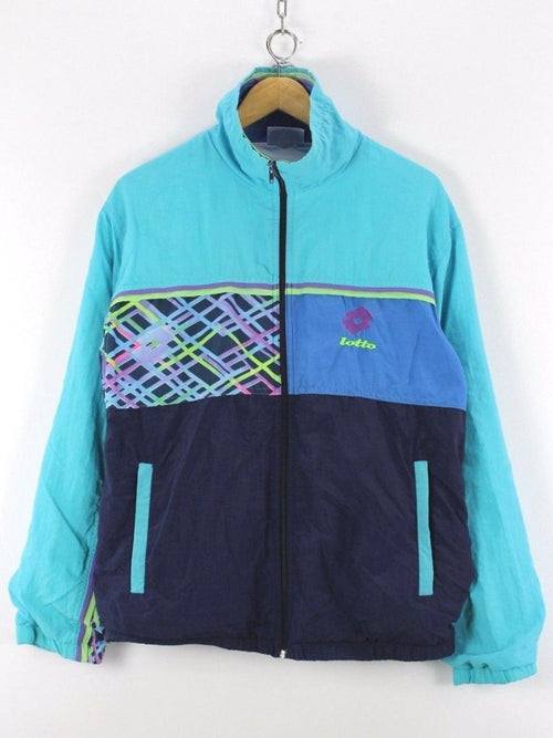Lotto Mens Retro Tracksuit top Shell jacket, size XL Vintage running jacket