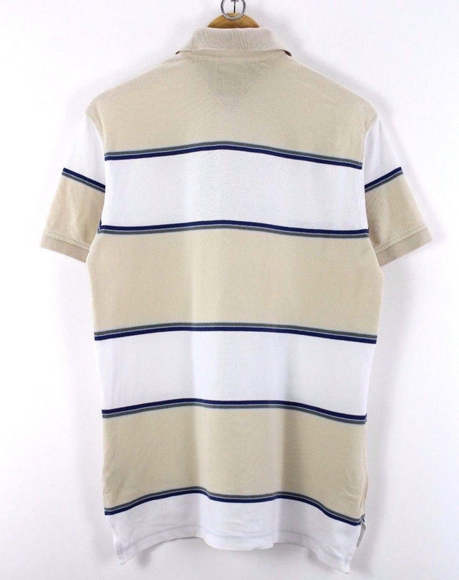 Tommy Hilfiger Mens Polo Shirt, Size S, Striped, Casual TOP, Short Sleeve, Polo Shirt, Tommy Hilfiger, - Top-Garms