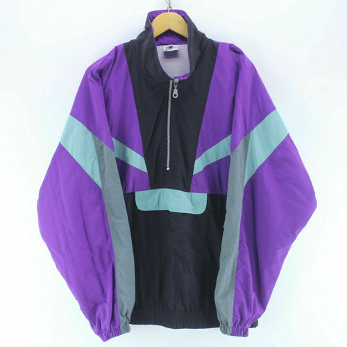 Men's Track Jacket Purple/Black Size XL