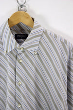 ETON BLUES Mens Shirt, Size 42, L, Casual Striped, TOP, Long Sleeve Cotton - Top-Garms