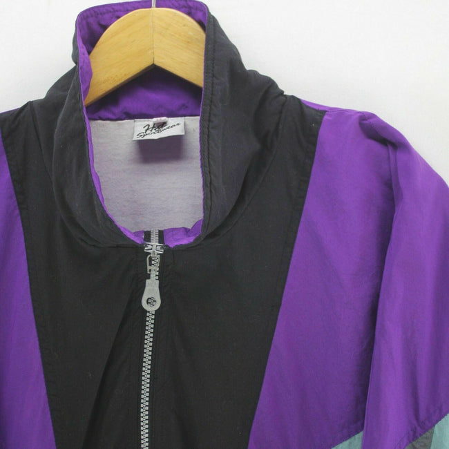 Vintage Men's Track Jacket Purple Size XL