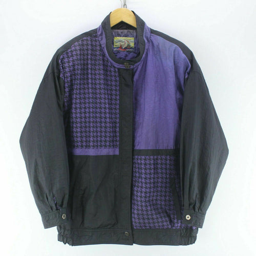 Vintage Men's Shell Jacket Black Size 2XL