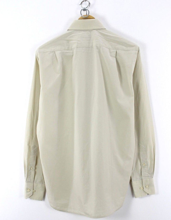 HUGO BOSS Mens Shirt, Size M, 15 -38, Beige, Long Sleeve, Cotton, Formal Shirt, HUGO BOSS, - Top-Garms