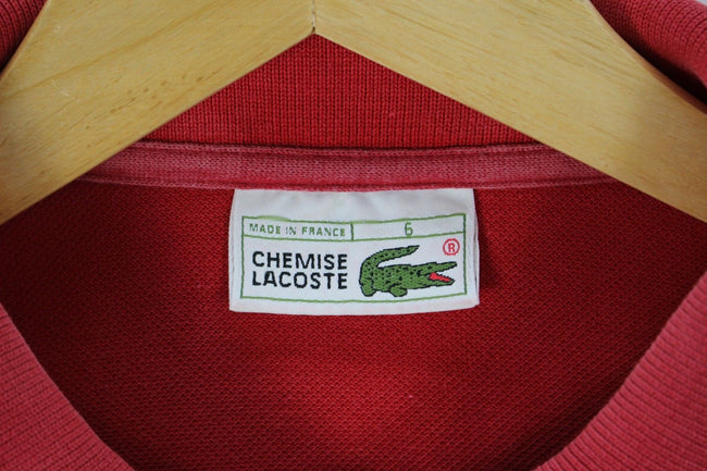 Lacoste Mens Polo Shirt, Size 6 XL, Red, Short sleeves 100% cotton, Polo Shirt, Lacoste, - Top-Garms