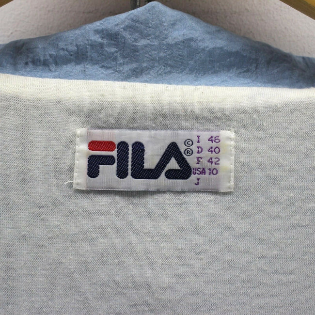 Vintage FILA Men's Track Jacket Size 10 Full-Zip Tracksuit Top in Blue, Tracksuit, FILA, - Top-Garms