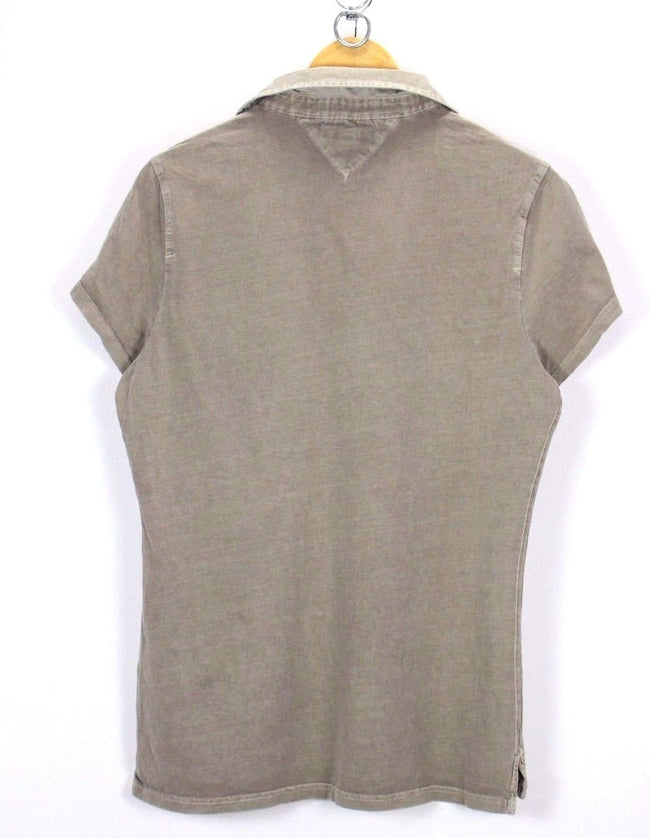 Tommy Hilfiger Womens Polo Shirt Size XL XLarge Short Sleeve Cotton Gray, Polo Shirt, Tommy Hilfiger, - Top-Garms