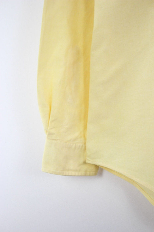 Ralph Lauren Mens Shirt, Size 2XL, 16 1/2, Yellow, Long Sleeve, Cotton, Shirt, Ralph Lauren, - Top-Garms