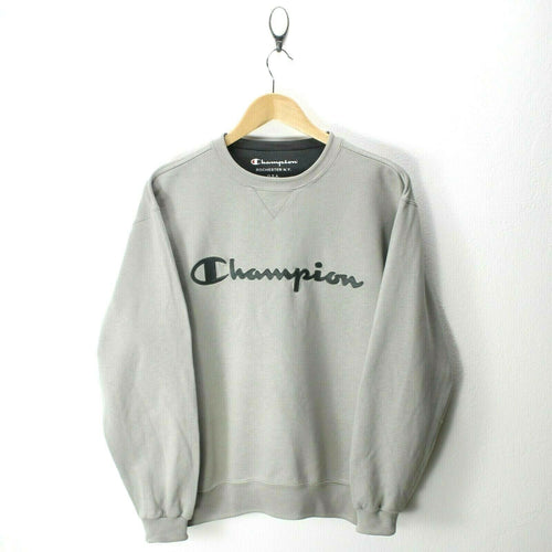 Vintage Champion Men's Sweater in Gray Size S Crew Neck MINT Spell-Out EF6839