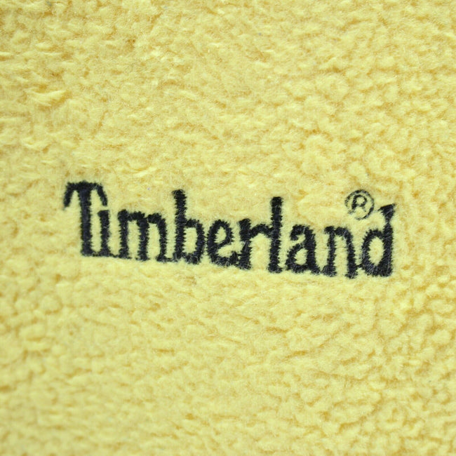 Vintage Timberland Women's Fleece Jacket in Yellow Size 12 Full Zip Jumper, Jumper Sweater, Timberland, - Top-Garms