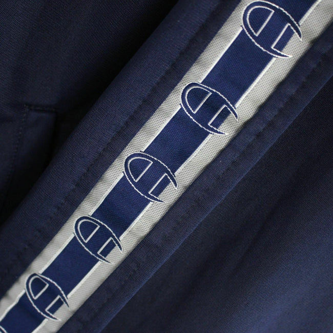 Vintage Champion Men's Track Jacket Size M Full-Zip in Navy Blue, Tracksuit, Champion, - Top-Garms