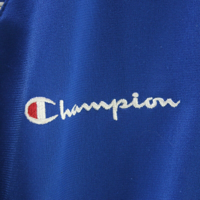 Vintage Champion Italia Men's Track Jacket in Blue Size S Arm Tape Logo, Tracksuit, Champion, - Top-Garms
